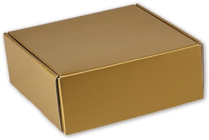 Gold Metallic Decorative Mailers, 8 x 8 x 3""