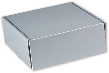 Silver Metallic Decorative Mailers, 8 x 8 x 3