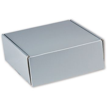 Silver Metallic Decorative Mailers, 8 x 8 x 3""