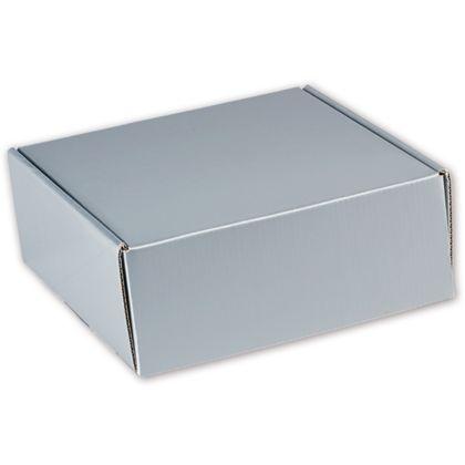 "Silver Metallic Decorative Mailers, 8 x 8 x 3"""