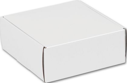 White Decorative Mailers, 8 x 8 x 3""