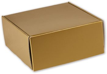Gold Metallic Decorative Mailers, 9 x 9 x 4