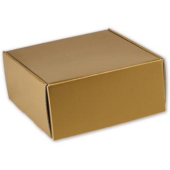 Gold Metallic Decorative Mailers, 9 x 9 x 4