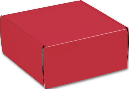 Red Decorative Mailers, 9 x 9 x 4""