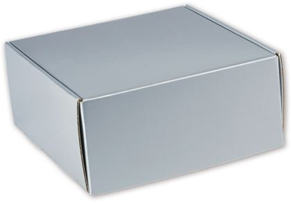Silver Metallic Decorative Mailers, 9 x 9 x 4""
