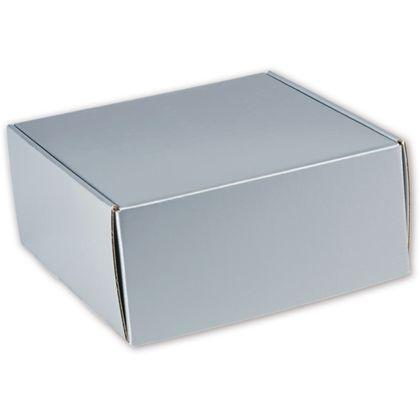 "Silver Metallic Decorative Mailers, 9 x 9 x 4"""