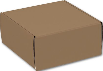 Kraft Decorative Mailers, 9 x 9 x 4""