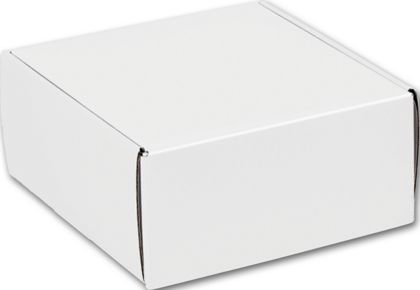 White Decorative Mailers, 9 x 9 x 4""