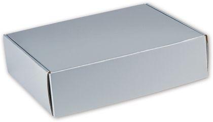 "Silver Metallic Decorative Mailers, 12 x 9 x 3"""