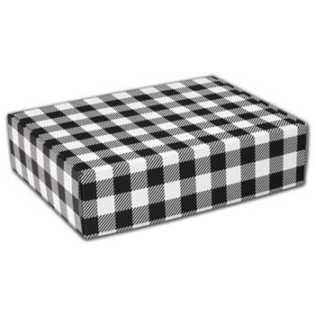 Black & White Plaid Decorative Mailers, 12 x 9 x 3