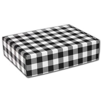 Black & White Plaid Decorative Mailers, 12 x 9 x 3