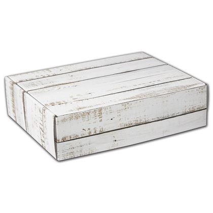 Distressed White Wood Decorative Mailers, 12 x 9 x 3""