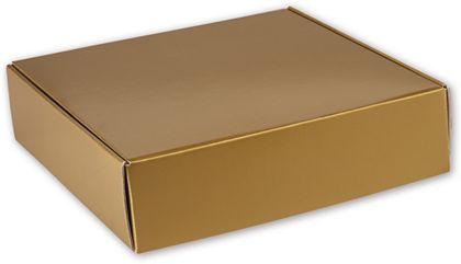 "Gold Metallic Decorative Mailers, 12 x 12 x 3"""