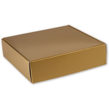 Gold Metallic Decorative Mailers, 12 x 12 x 3""