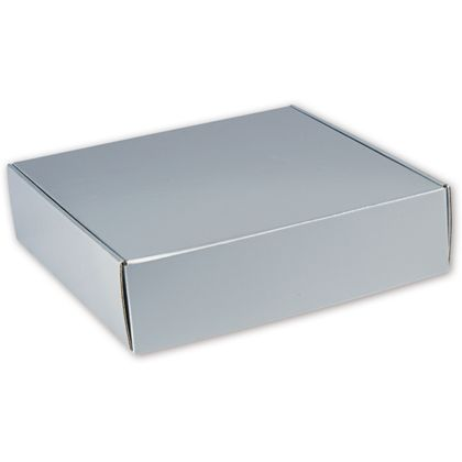 Silver Metallic Decorative Mailers, 12 x 12 x 3""