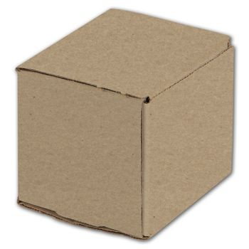Kraft One-Piece Mailers, 4 x 4 x 4