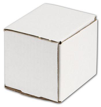 White One-Piece Mailers, 4 x 4 x 4