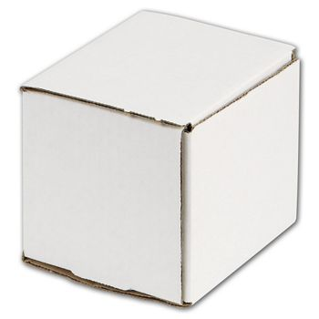 White One-Piece Mailers, 4 x 4 x 4