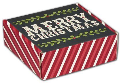 "Christmas Greetings Decorative Mailers, 6 x 6 x 2"""