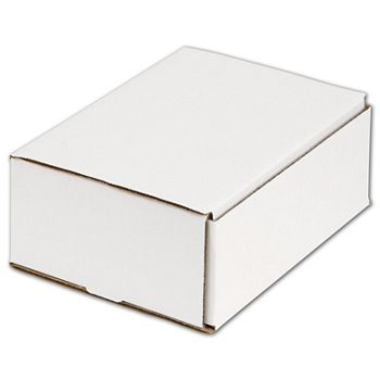 White One-Piece Mailers, 8 x 6 x 3