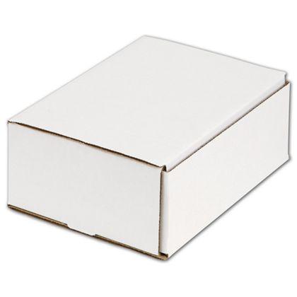 """White One-Piece Mailers, 8 x 6 x 3"""""""