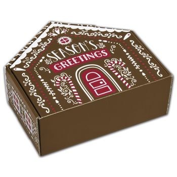 Gingerbread House Shaped Decorative Mailers, 8x7 11/16x3