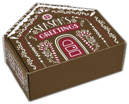 """Gingerbread House Shaped Decorative Mailers, 8x7 11/16x3"""""""