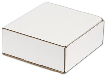 White One-Piece Mailers, 8 x 8 x 3