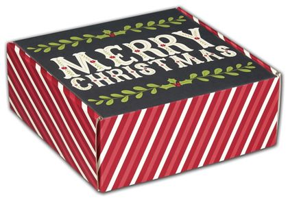 Christmas Greetings Decorative Mailers, 8 x 8 x 3""