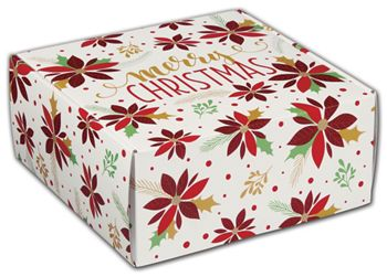 Christmas Poinsettia Decorative Mailers, 9 x 9 x 4