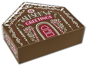 Gingerbread House Shaped Decorative Mailers, 10x9 5/8x3