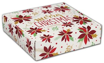 Christmas Poinsettia Decorative Mailers, 12 x 9 x 3