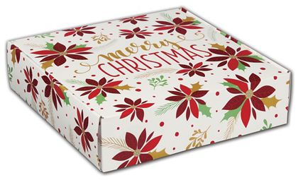 "Christmas Poinsettia Decorative Mailers, 12 x 9 x 3"""