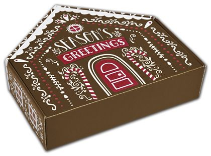 Gingerbread House Shaped Decorative Mailers, 12x11 9/16x3""