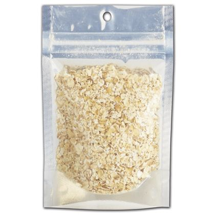 Metallic Clear Zipper Pouches, 3 5/8 x 1 1/2 x 5""