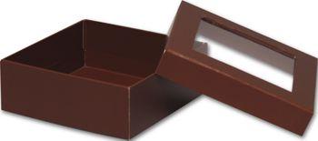 Chocolate Rigid Gourmet Window Boxes, Medium