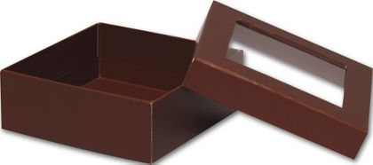 Chocolate Rigid Gourmet Window Boxes, Medium