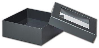 Graphite Metallic Rigid Gourmet Window Boxes, Medium