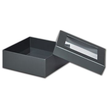 Graphite Metallic Rigid Gourmet Window Boxes, Medium