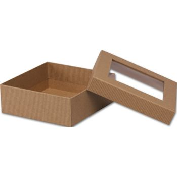 Kraft Rigid Gourmet Window Boxes, Medium