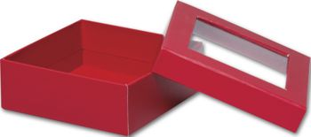 Red Rigid Gourmet Window Boxes, Medium