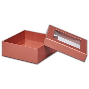 Rose Gold Metallic Rigid Gourmet Window Boxes, Medium