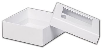White Rigid Gourmet Window Boxes, Medium