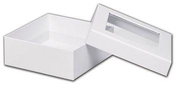White Rigid Gourmet Window Boxes, Medium