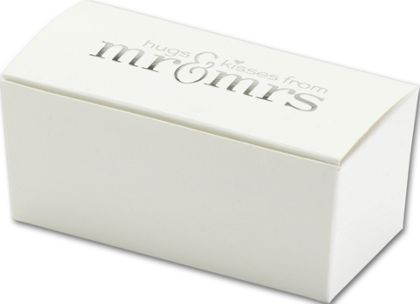 White with Silver Foil Mr and Mrs Truffle Boxes