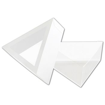 Frosted Window Boxes, Triangle Shape, 3 1/2 x 1 1/4