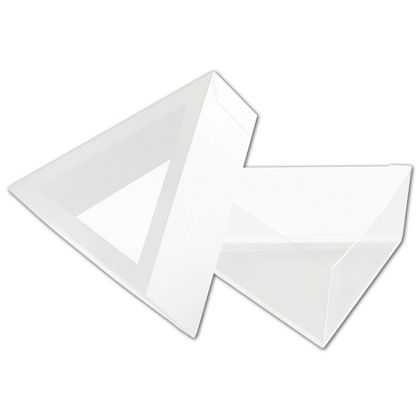 Frosted Window Boxes, Triangle Shape, 3 1/2 x 1 1/4""