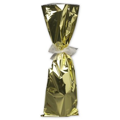 Gold Mylar Wine Bag, 6 1/2 x 20