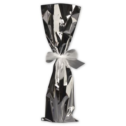 "Silver Mylar Wine Bag, 6 1/2 x 20"""