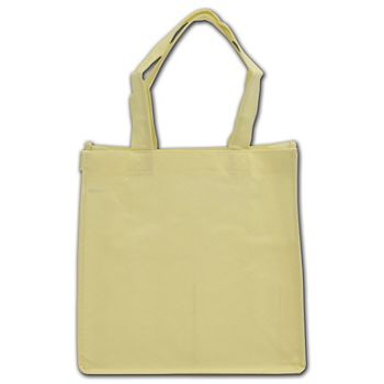 """Ivory Non-Woven Shoppers, 10 x 5 x 10"""""""